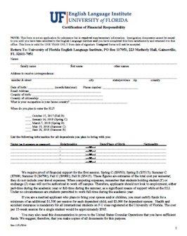 Certification of Financial Responsibility - Estudia En Florida