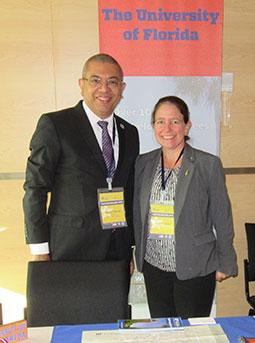 Leandro Villarroel y Megan Forbes. University of Florida